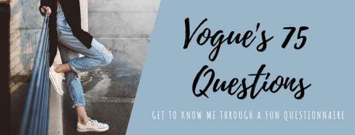 Vogue's 75 Questions
