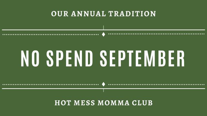 No Spend September2021